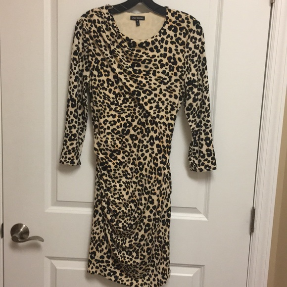 Juicy Couture Dresses & Skirts - Juicy Couture animal print 3/4 sleeve dress sz M